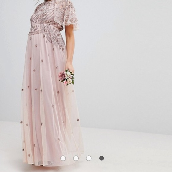 4700e7c3c3 ASOS DESIGN Maternity iridescent beaded dress